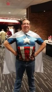 Andy Tabisz plays Super Hero while speaking at Columbus, Ohio SQL Saturday