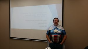 Andy Tabisz as Super Hero at Columbus, Ohio SQL Saturday