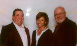 Andy Tabisz has picture with Dave Ramsey and Sharon Ramsey in Nashville TN