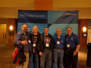 Andy Tabisz picture with Microsoft MVPs Juan Soto, Joe Anderson, George Hepworth and Scott Diamond in Bellevue, Washington