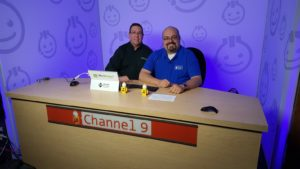 Andy Tabisz and Juan Soto record videos for Microsoft Channel 9